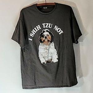 Delta Shirts - I Shih Tzu Not Funny Dog T Shirt sz L